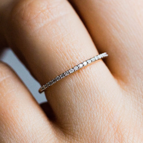 Diamond Pave Eternity Band - rings - Carrie Elizabeth Jewelry local eclectic
