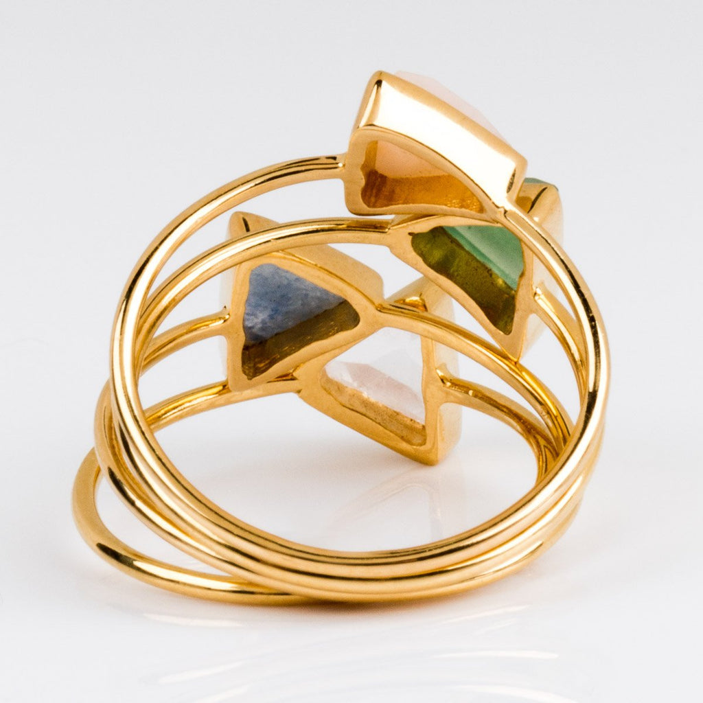 Four Triangle Stacking Ring Set - rings - Carrie Elizabeth Jewelry local eclectic