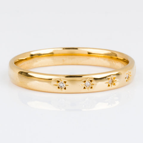 Simple Star Set Diamond Band - rings - Carrie Elizabeth Jewelry local eclectic