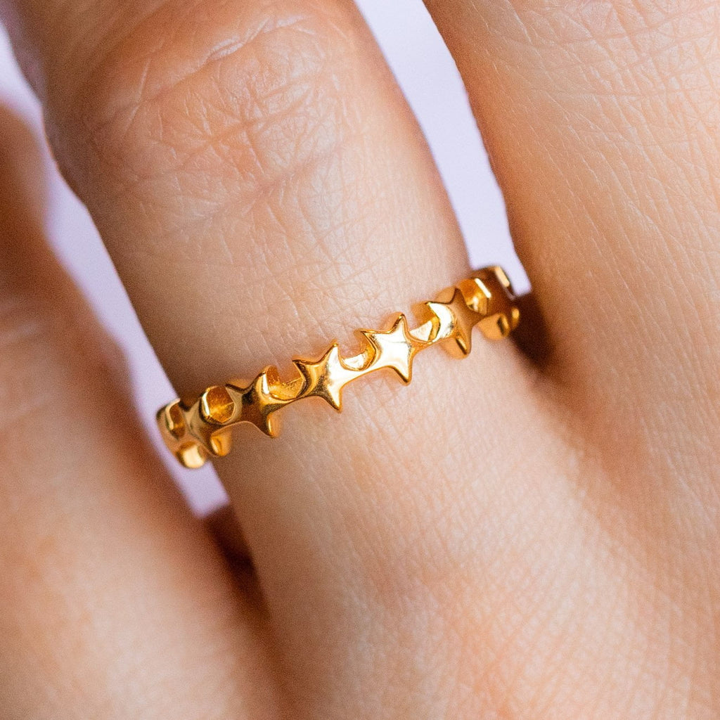Celestial Star Band Ring
