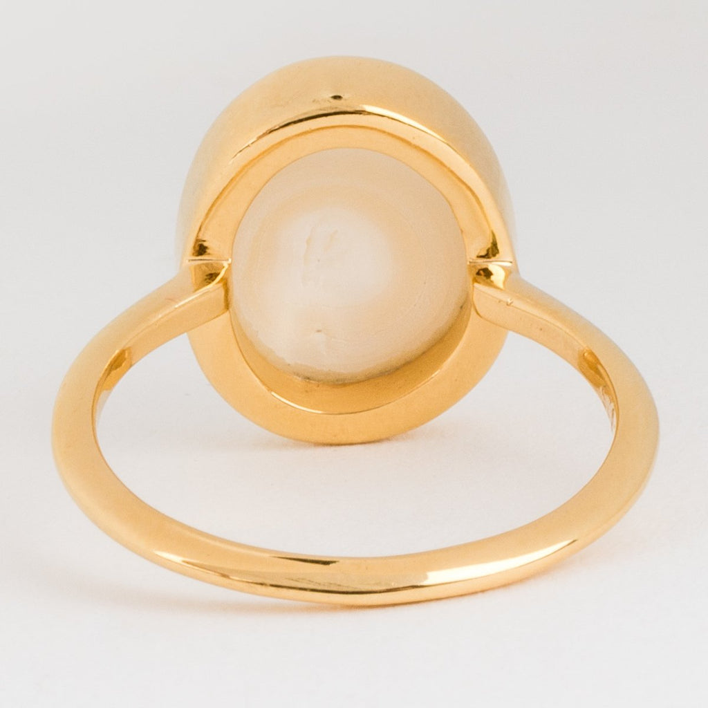 Pearl Gold Statement Ring