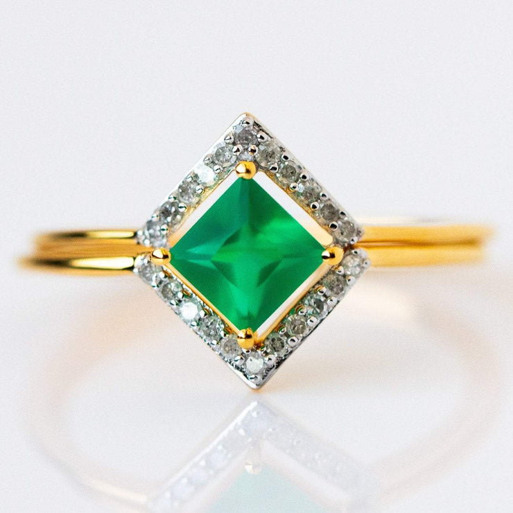 green onyx statement ring from local eclectic