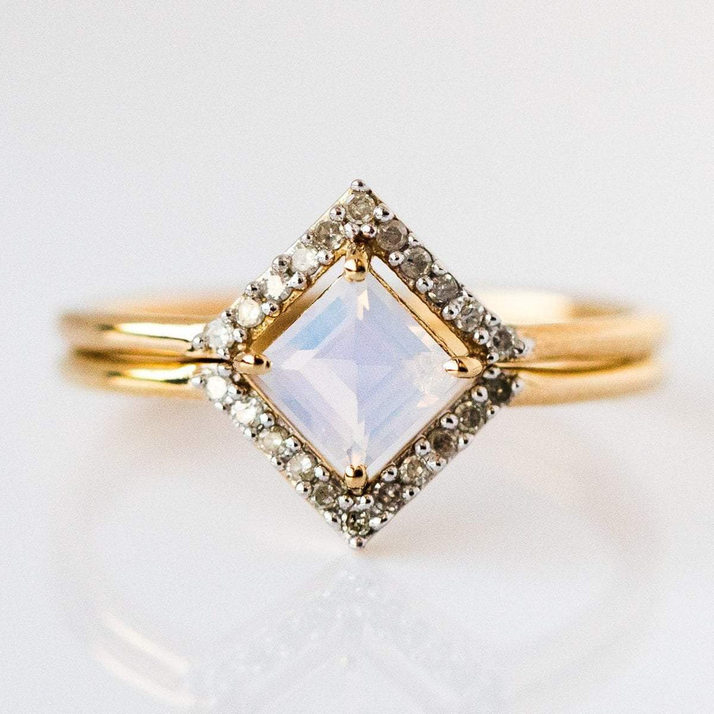 lilac quartz statement ring from local eclectic