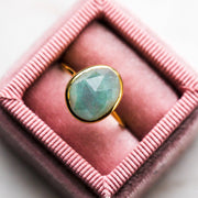 Semi Precious Aquamarine Ring - rings - Carrie Elizabeth Jewelry local eclectic