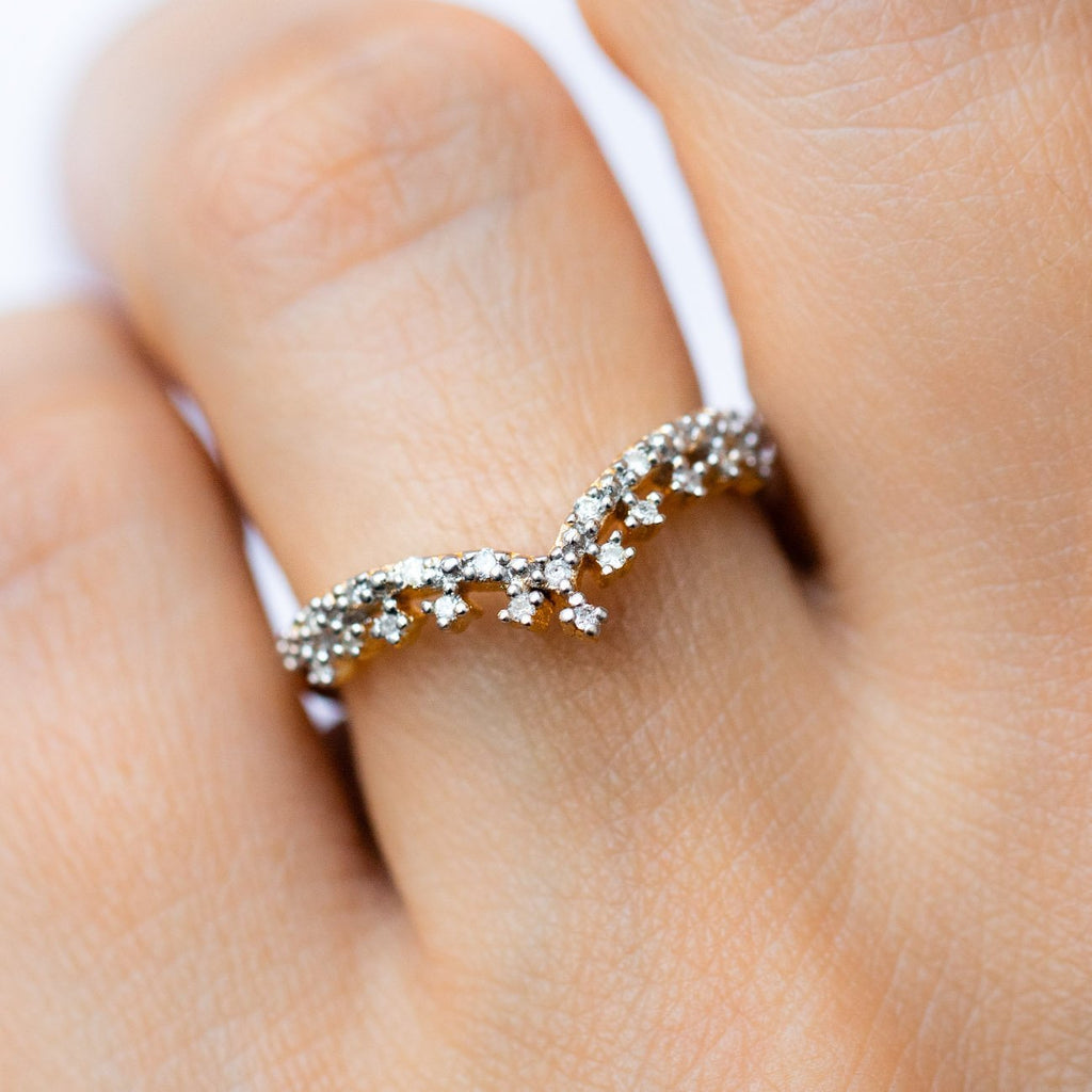 Tiara Inspired Stackable Ring 14k Gold Vermeil