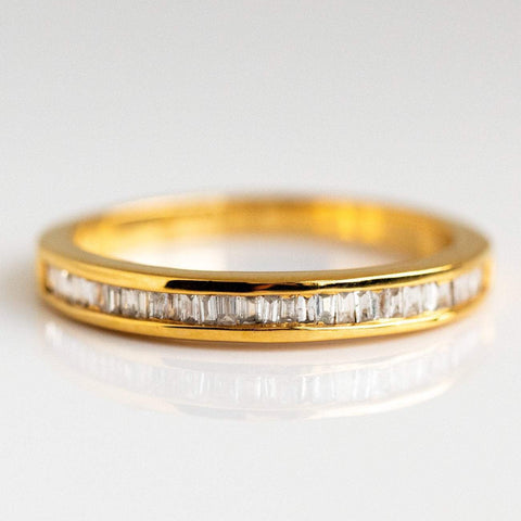 Baguette cut diamond gold ring from local eclectic
