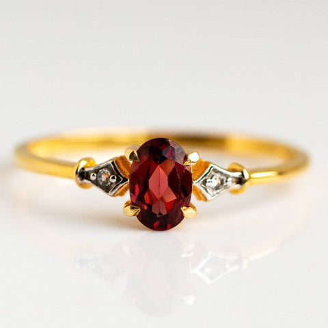 Vintage Inspired Rhodolite Ring - Ring - Carrie Elizabeth - Local Eclectic