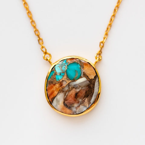 Statement Oyster Turquoise Necklace