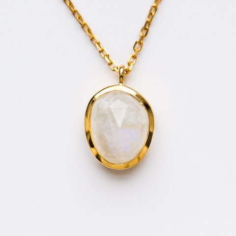 Semi Precious Moonstone Pendant - necklaces - Carrie Elizabeth Jewelry local eclectic
