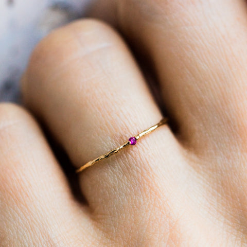 Hint Ring in Ruby - rings - Cloverpost local eclectic