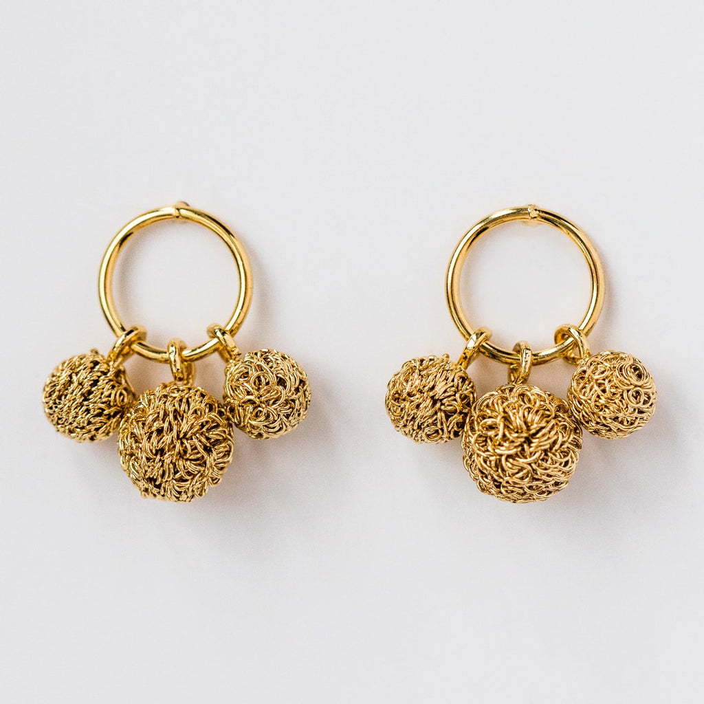 Powder Earrings in Yellow Gold - earrings - Cloverpost local eclectic