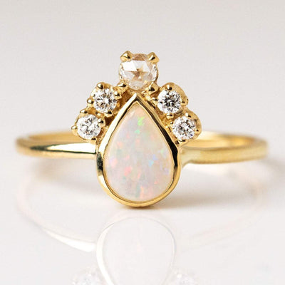 Pear Opal Crown Ring rings Charlie and Marcelle