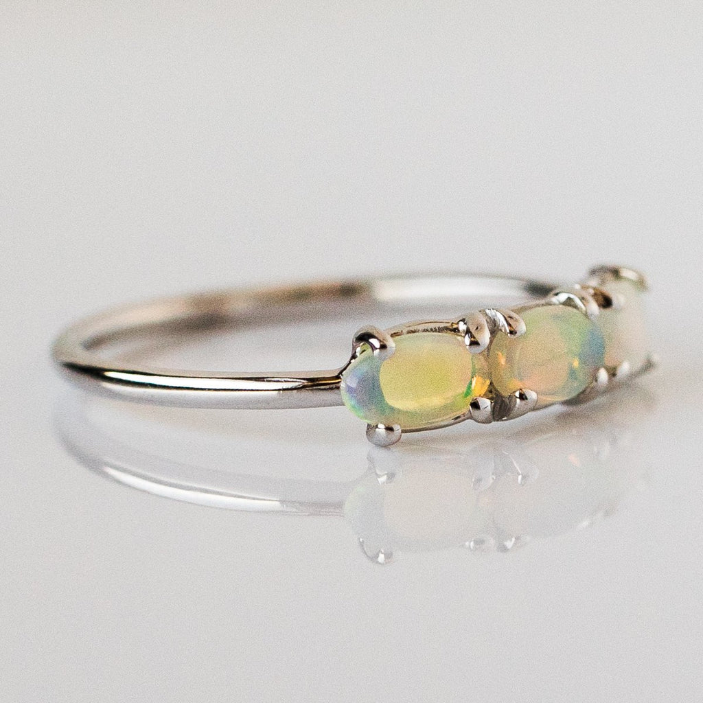Past Present and Future Ring in White Gold - rings - Charlie and Marcelle local eclectic