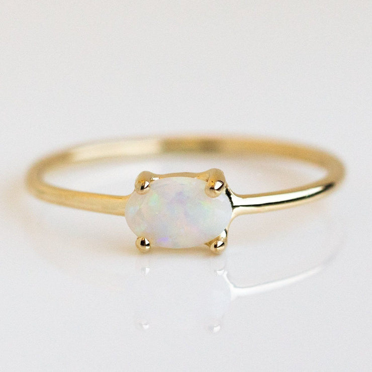 Solid Yellow Gold Minimal Birthstone Jewelry Personalized Fine Charlie and Marcelle