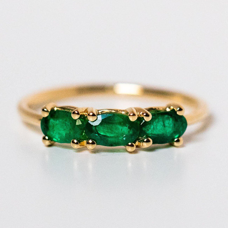 solid yellow gold emerald ring fine unique emerald jewelry