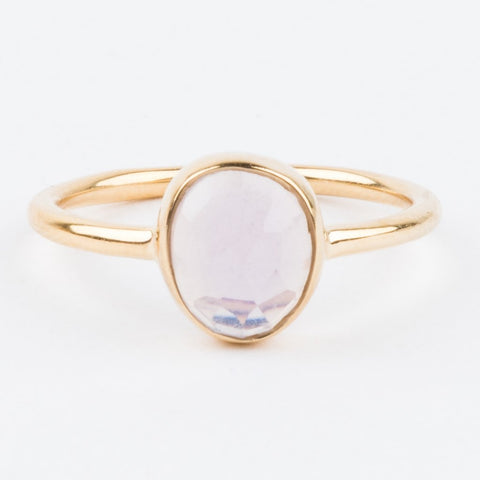 Lilac Quartz & Topaz Stacking Ring Set - rings - Carrie Elizabeth Jewelry local eclectic