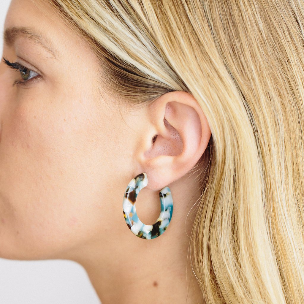 b3934d97c67262 Limited Edition Kate Hoop Earrings in French Riviera - earrings - Machete  Jewelry local eclectic