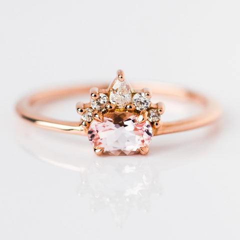 Pink Morganite Olina Ring - rings - Emi Conner local eclectic