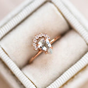 Pear Shaped Aquamarine Rose Gold Statement Ring