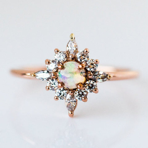 Skylar Ring with Opal - rings - Emi Conner local eclectic