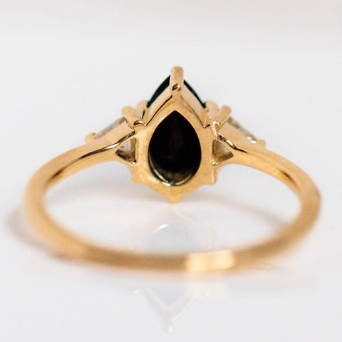 alexis ring with black onyx and moissanite statement jewelry