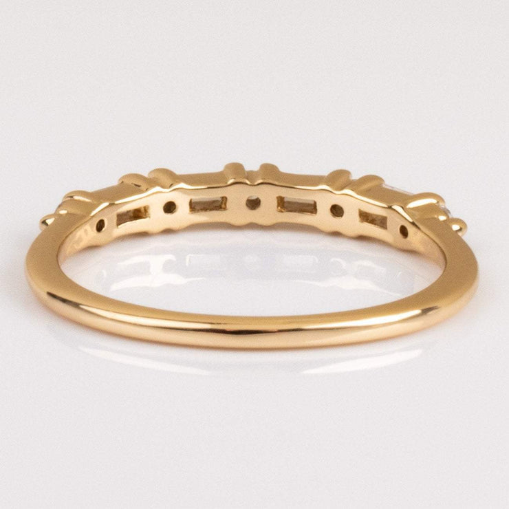 Elizabeth Stone Baguette CZ Gold Stacking Ring
