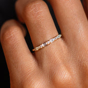 local eclectic _ Products _ Multi Gem Baguette CZ Stacking Ring _ Shopify Plus