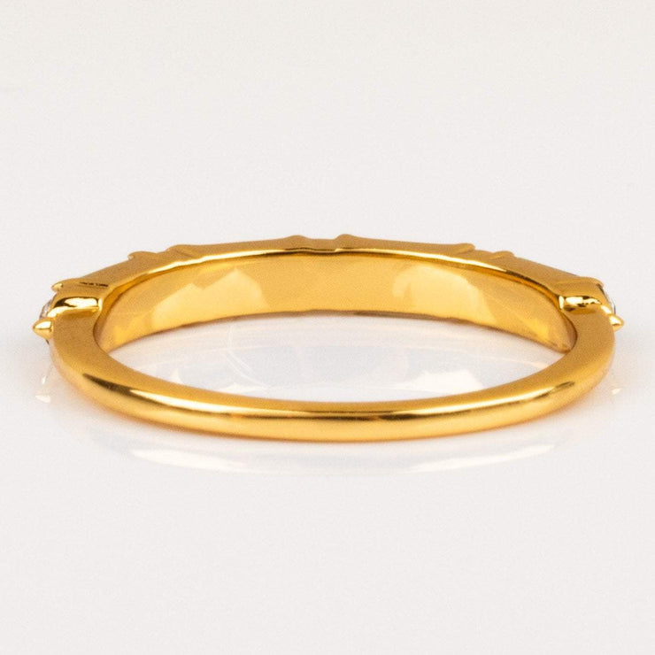 Colored Gem Baguette Gold Stacking Ring