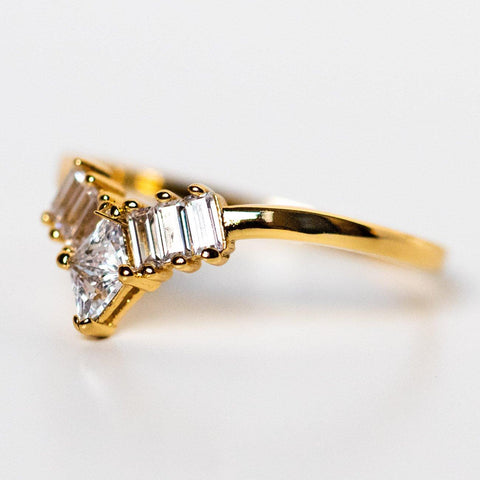 Tiara Ring in Gold