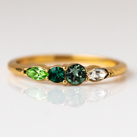 Dainty Princess Birthstone Ring May