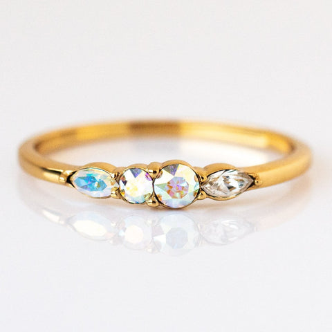 Dainty Princess Birthstone Ring June