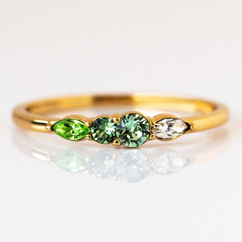 Dainty Princess Birthstone Ring August