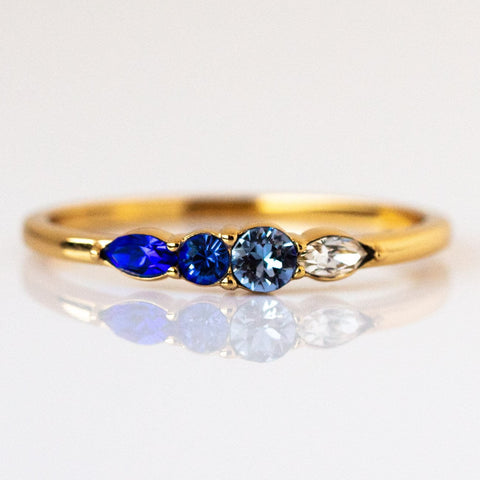 Dainty Princess Birthstone Ring September