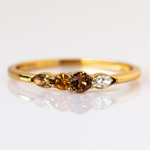 Dainty Princess Birthstone Ring November