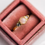 Royal Gemstone Ring in Moonstone - rings - Elizabeth Stone local eclectic