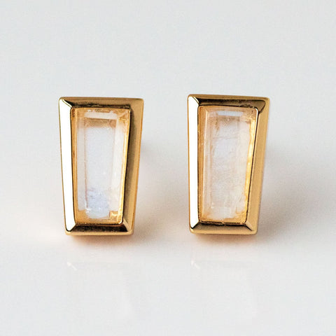 Ray Gem Studs in Moonstone