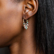 Chroma Rays Mini Hoop Earrings earrings Elizabeth Stone