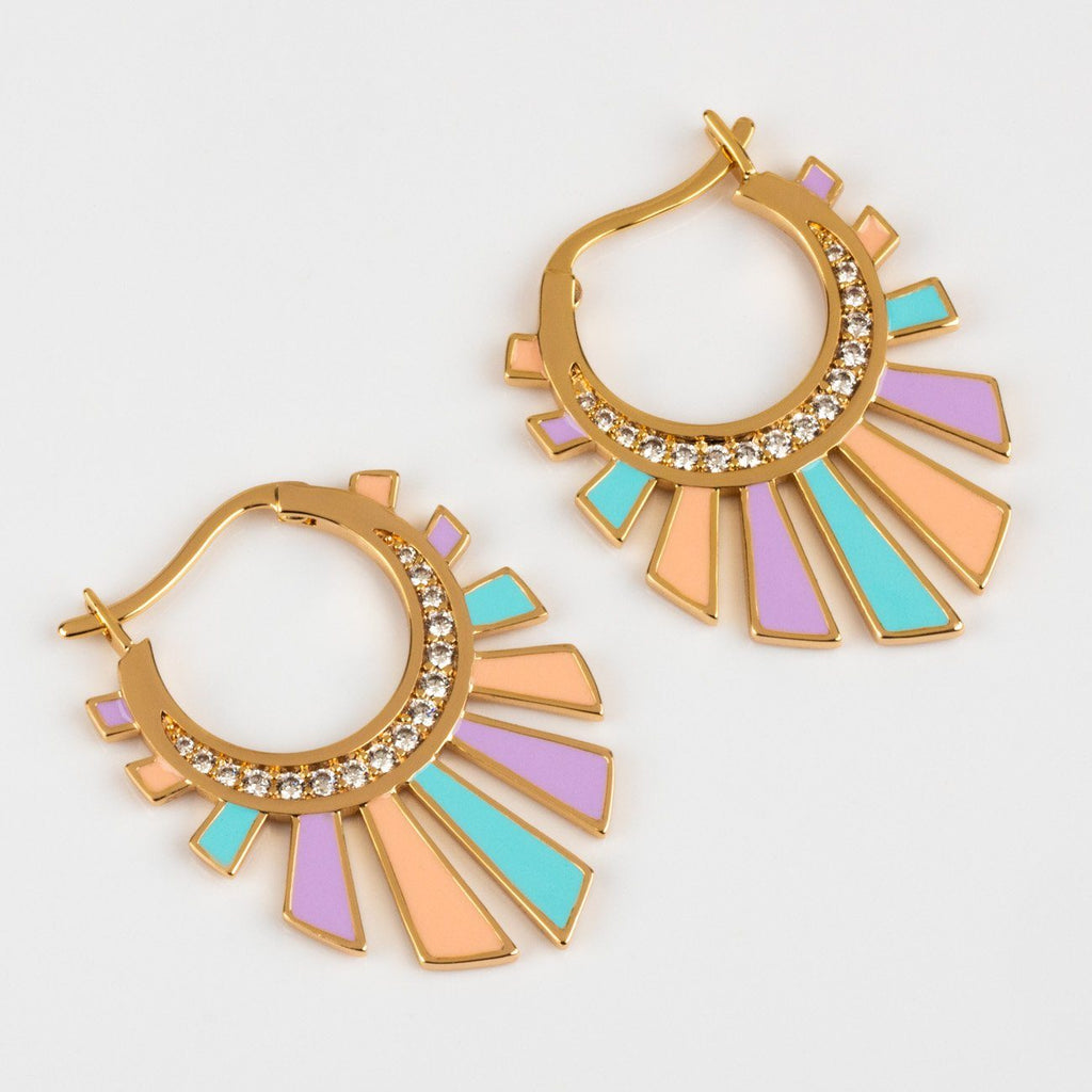Chroma Rays Mini Hoop Earrings