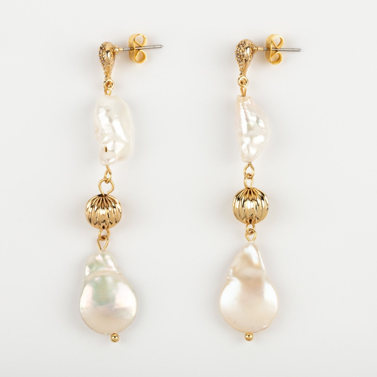 46eb43d63 local eclectic | Freshwater Pearl Double Drop Earrings