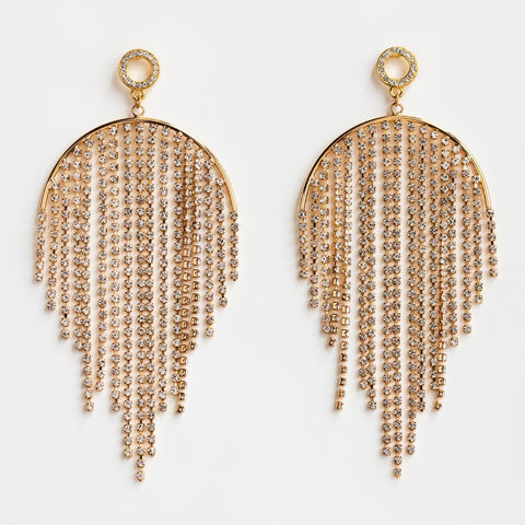 Local Eclectic Life of the Party CZ 18K Yellow Gold Plated Earrings