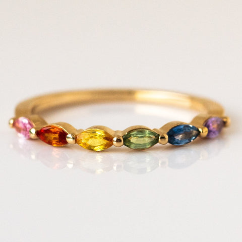 Rainbow Sun King Ring