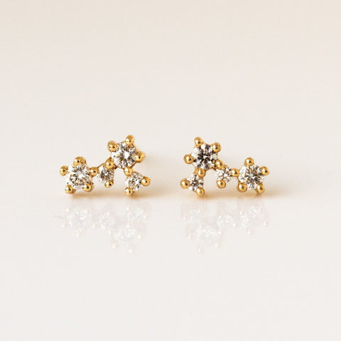 Hale Tiny Diamond Cluster Studs