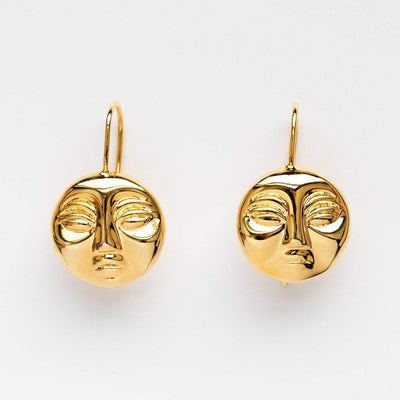 Local Eclectic - 9K Yellow Gold Moon Earrings - Eyland