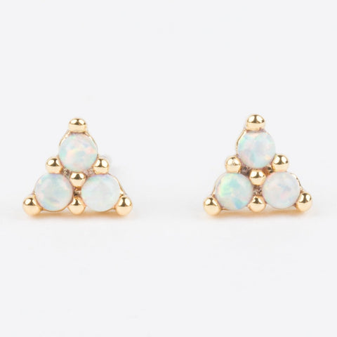 Elsie Stud Earrings with Opal - earrings - Five and Two local eclectic
