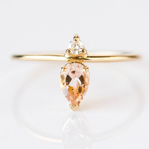 Emilia Morganite Ring - rings - LUMO local eclectic
