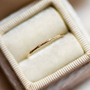 Solid Gold Textured Diamond Band fine yellow gold unique dainty jewelry