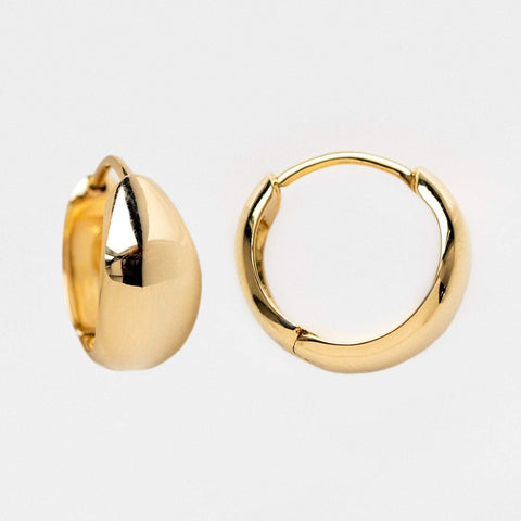 solid yellow gold chunky huggie hoop earrings family gold