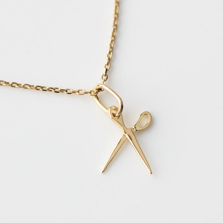 Bia Blooms for Family Gold Solid Gold Scissor Charm yellow gold dainty floral inspired jewelry