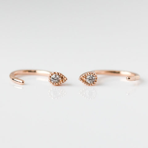Harley Ear Huggers in Rose Gold - earrings - Five and Two local eclectic