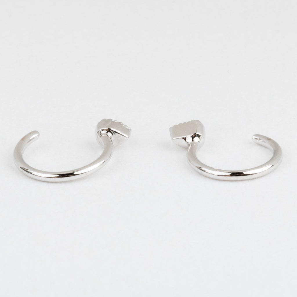Harley Ear Huggers in Silver - earrings - Five and Two local eclectic